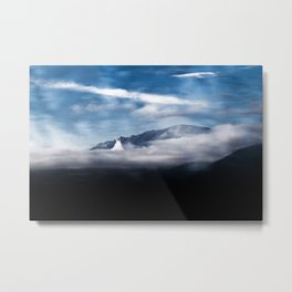 Mountains and fog. Landscape Metal Print