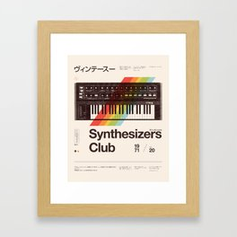Synthesizers Club Framed Art Print