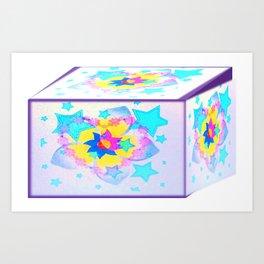 Cubo de estrellas Art Print