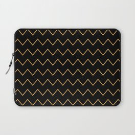 Art Deco Gold Glitzy Glamour Pattern Laptop Sleeve