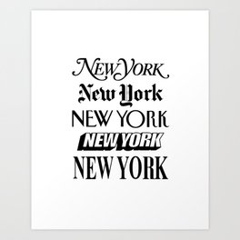 I Heart New York City Black and White New York Poster I Love NYC Design black-white home wall decor Art Print