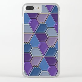 Blues & Purples Clear iPhone Case