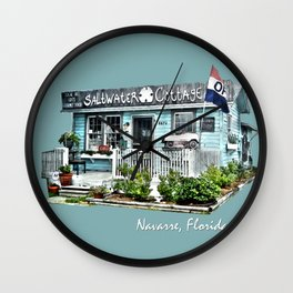 Saltwater Cottage Wall Clock