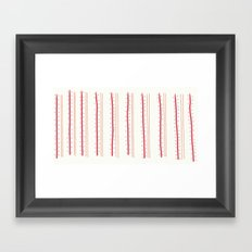 Stripes and Spots Framed Art Print