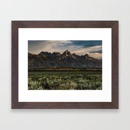 Teton Morning Framed Art Print