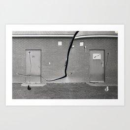 Concrete vs Abstract Art Print