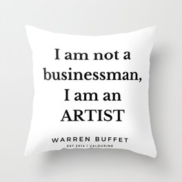 43   | Warren Buffett Quotes | 190823 Throw Pillow