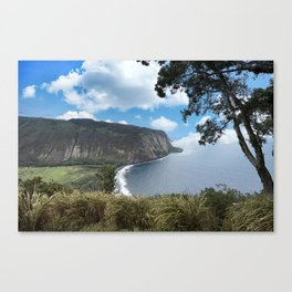 Look out view of Waipio Valley in Hawaii Canvas Print