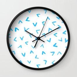 Watercolor Rain Wall Clock