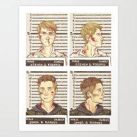 stucky Art Prints featuring stucky mugshots by maria euphemia