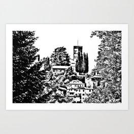Duomo of Barga Art Print