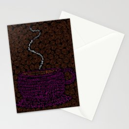 Cup O Type Typographic Coffee Cup Illustration Stationery Cards