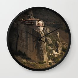 monastery in Meteora Wall Clock