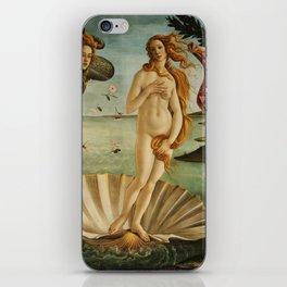 "Sandro Botticelli ""The Birth of Venus"" 1. iPhone Skin"