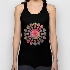 Abstract Floral Circles Unisex Tank Top