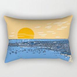 Cascais Bay-Portugal-Beach-Sunset-Landscape Rectangular Pillow