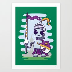 Ned the Knight Art Print