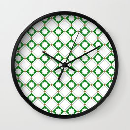 Geometric Pattern - Oriental Star Design  5 Wall Clock
