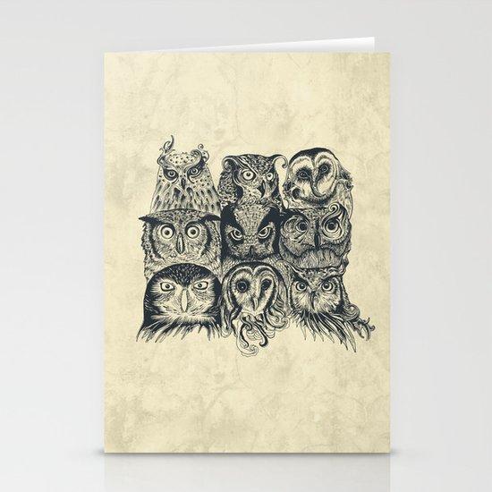 Nine Owls Stationery Cards