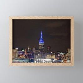 Midtown Manhattan at Night Framed Mini Art Print
