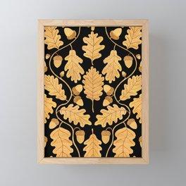 Golden oak and acorn nouveau Framed Mini Art Print