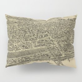 Vintage Pictorial Map of Rochester PA (1900) Pillow Sham