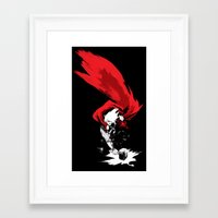 thor Framed Art Prints featuring Thor by Irene Flores