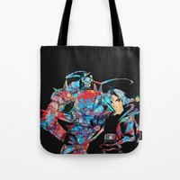 fullmetal Tote Bags featuring Fullmetal Alchemist by lauramaahs