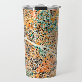 Paris mosaic map #2 Travel Mug