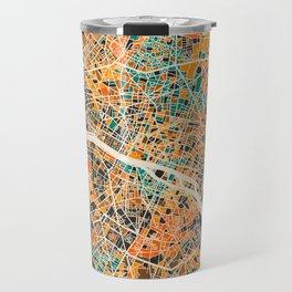 Paris mosaic map #2 Travel Mug