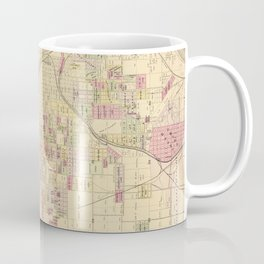 Vintage Map of Omaha Nebraska (1885) Coffee Mug
