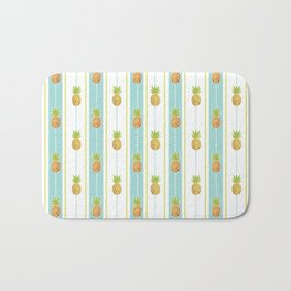 Vintage Glitter Pineapples Bath Mat