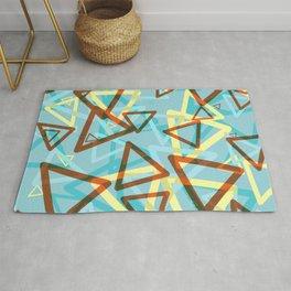 Falling Triangles Retro Design Rug