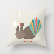 Merry Christmas - Going Cold Turkey from Shopping Sprees Throw Pillow