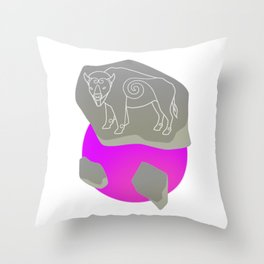 Pictavia Bison Throw Pillow