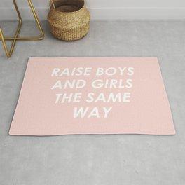 Raise Boys And Girls The Same Rug