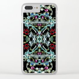 Bling 2, Jewelry Scanography Kaleidoscope Clear iPhone Case