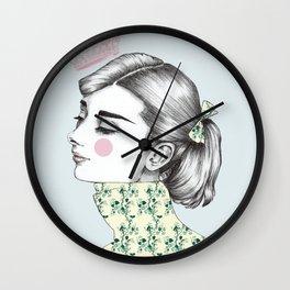 Audrey Hepburn 1 Wall Clock