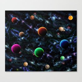 Space Moons Canvas Print