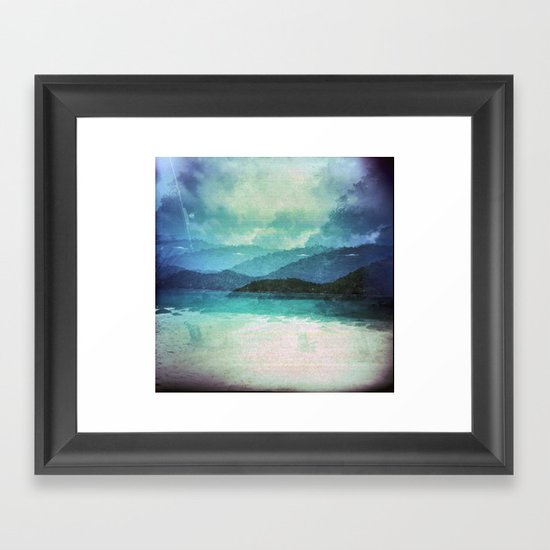Tropical Island Multiple Exposure Framed Art Print