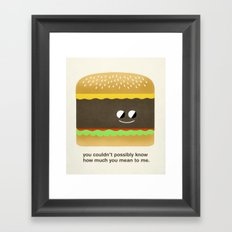 Cheesy Burger Framed Art Print