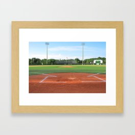 Play Ball! - Home Plate - For Bar or Bedroom Framed Art Print