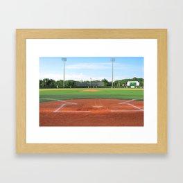 Play Ball! - Home Plate Framed Art Print