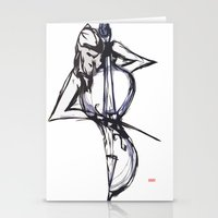 cello Stationery Cards featuring Cello by Myles Hunt