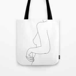 Figure line drawing illustration - Ivy Tote Bag
