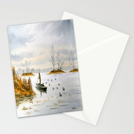 Duck Hunting - The Island Duck Blind Stationery Cards