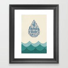 If Beauty Were A Drop of Water Framed Art Print
