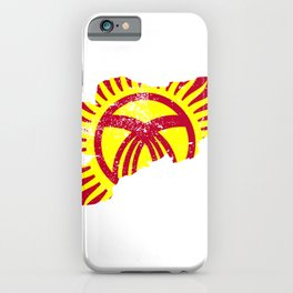 Distressed Kyrgyzstan Map iPhone Case