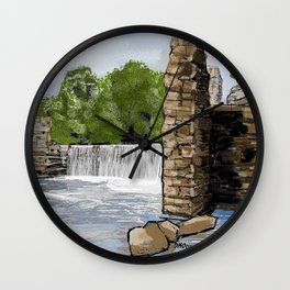 Boshell Mill's Remains Wall Clock