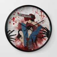 evil Wall Clocks featuring Evil by Spectacle Photo